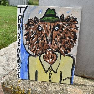 Original Folk Art Transformation Werewolf